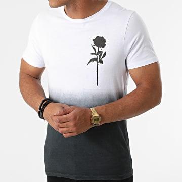 Luxury Lovers - Tee Shirt Dégradé Rose Chest Blanc Noir