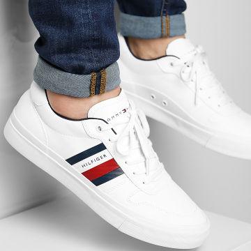 Tommy Hilfiger - Baskets Core Corporate Stripes Vulcanized 3623 White
