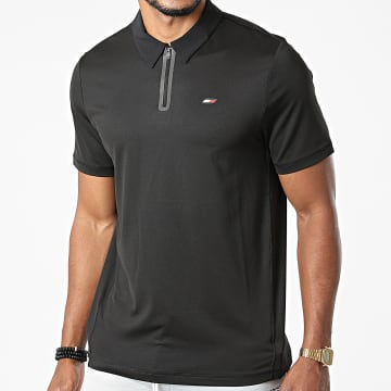 Tommy Sport - Polo Manches Courtes Mesh Training 8654 Noir