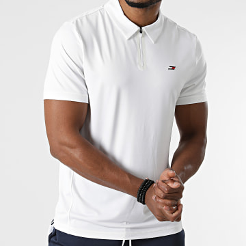 Tommy Sport - Polo Manches Courtes Mesh Training 8654 Ecru