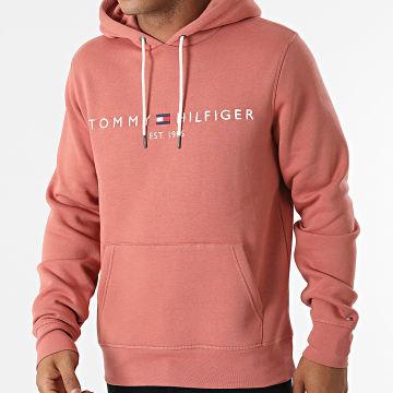 Tommy Hilfiger - Sweat Capuche Tommy Logo 1599 Rose Foncé