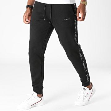 Calvin Klein - Pantalon Jogging A Bandes 6736 Noir Argenté