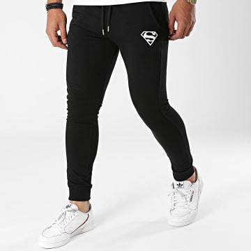 DC Comics - Pantalon Jogging Superman Logo Noir Blanc
