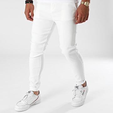 John H - Pantalon Chino P5514 Blanc