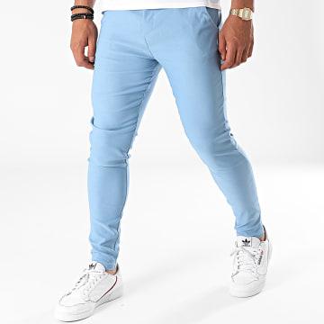 John H - Pantalon Chino P5515 Bleu Ciel