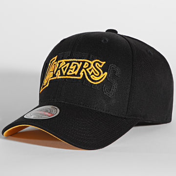 Mitchell and Ness - Casquette NBA Double Triple Redline Los Angeles Lakers Noir