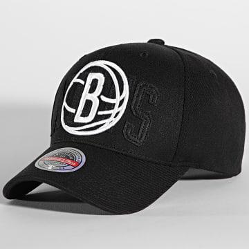 Mitchell and Ness - Casquette NBA Double Triple Redline Brooklyn Nets Noir
