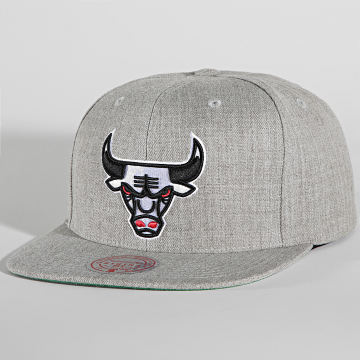 Mitchell and Ness - Casquette Snapback Team Heather Chicago Bulls Gris Chiné