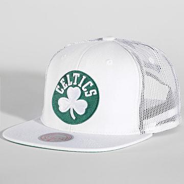 Mitchell and Ness - Casquette Trucker Cool Down Boston Celtics Blanc Vert