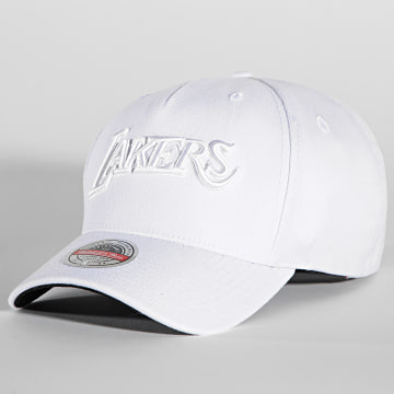 Mitchell and Ness - Casquette NBA Whiteout Redline Los Angeles Lakers Blanc