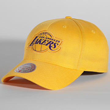 Mitchell and Ness - Casquette Prime Low Pro Los Angeles Lakers Jaune