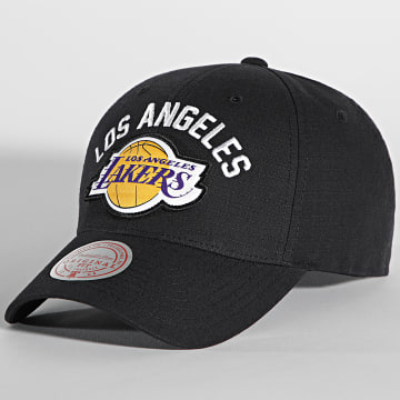 Mitchell and Ness - Casquette Arc Low Pro Los Angeles Lakers Noir