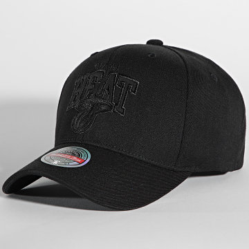 Mitchell and Ness - Casquette NBA Blackout Arch Miami Heat Noir
