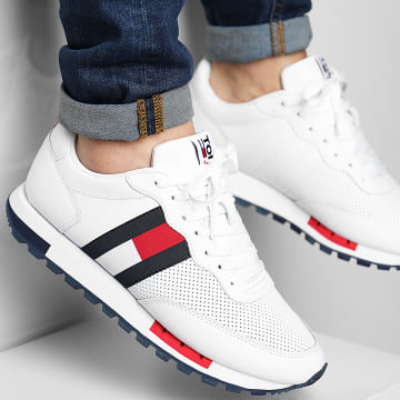 Tommy Jeans - Baskets Retro Leather Runner 0726 White