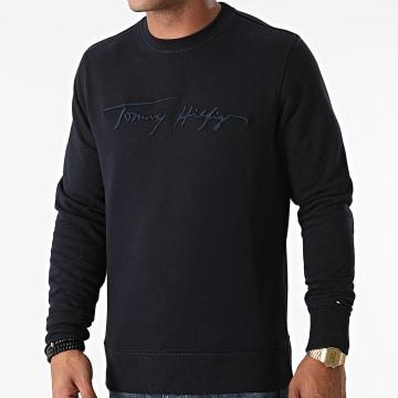 Tommy Hilfiger - Sweat Crewneck Signature 8710 Bleu Marine