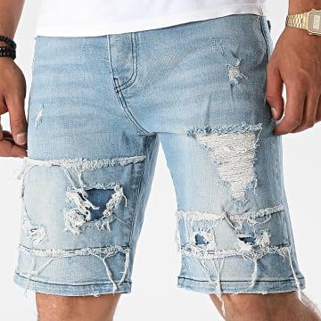 2Y Premium - Short Jean K6237 Bleu Denim
