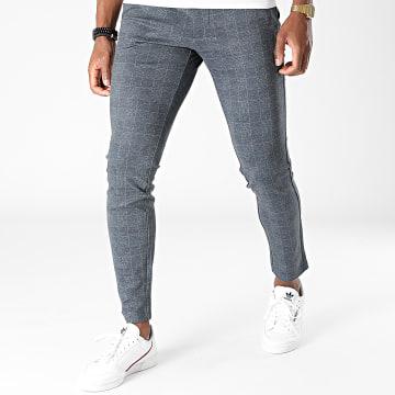 Only And Sons - Pantalon A Carreaux Mark Bleu Marine