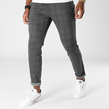Only And Sons - Pantalon A Carreaux Mark Gris Anthracite