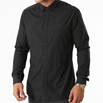 Only And Sons - Chemise Manches Longues Sane Noir