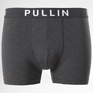 Pullin - Boxer Master Coton Uni Gris Anthracite Chiné