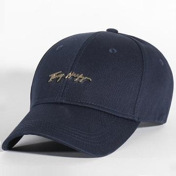 Tommy Hilfiger - Casquette Femme Signature Cap 0054 Bleu Marine