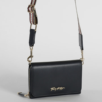 Tommy Hilfiger - Sac A Main Femme Iconic Crossover 0117 Bleu Marine