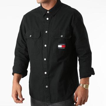 Tommy Jeans - Sur Chemise Manches Longues Faded Flag 1059 Noir