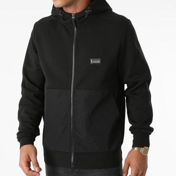 Calvin Klein - Sweat Zippé Capuche Premium Badge Zip 6740 Noir