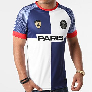 Foot - Tee Shirt De Sport Paris Bleu Marine Blanc