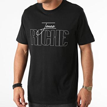 Jeune Riche - Tee Shirt Outline Noir Blanc