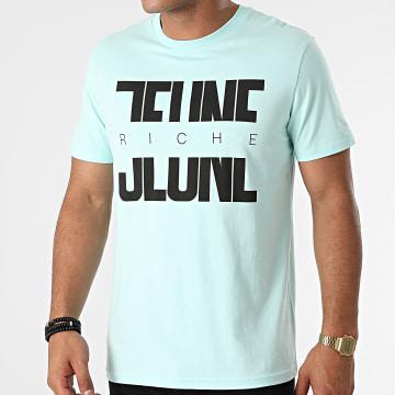 Jeune Riche - Tee Shirt Divided Bleu Ciel Noir