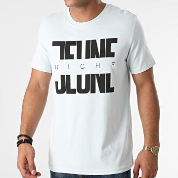 Jeune Riche - Tee Shirt Divided Bleu Pastel Noir