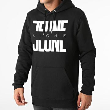 Jeune Riche - Sweat Capuche Divided Noir Blanc
