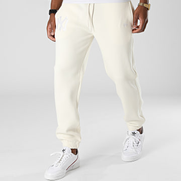 New Era - Pantalon Jogging Embroidery Logo New York Yankees 12879436 Beige