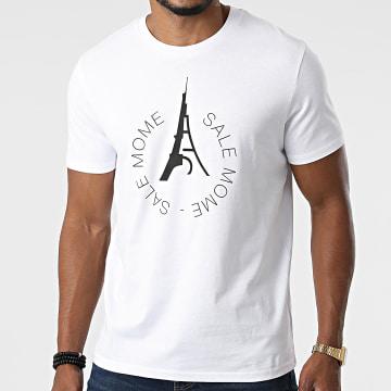 Sale Môme Paris - Tee Shirt 2 Tours Blanc Noir