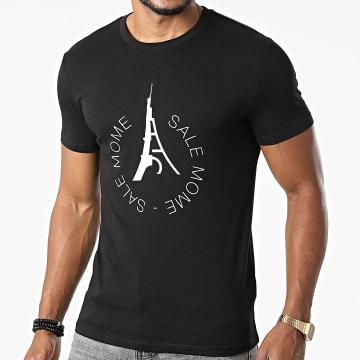 Sale Môme Paris - Tee Shirt 2 Tours Noir Blanc