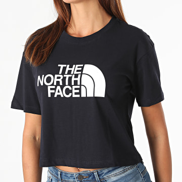 The North Face - Tee Shirt Crop Femme Easy A4T1R Bleu Marine