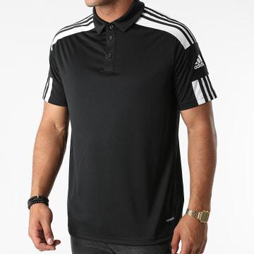 Adidas Performance - Polo Manches Courtes A Bandes Squad 21 GK9556 Noir