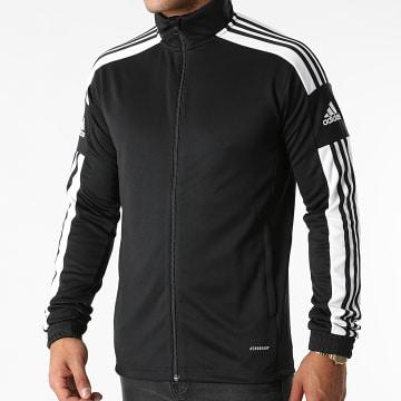 Adidas Performance - Veste Zippée A Bandes Squad 21 GK9546 Noir