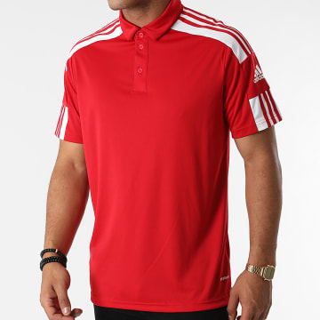 Adidas Performance - Polo Manches Courtes A Bandes Squad 21 GP6429 Rouge