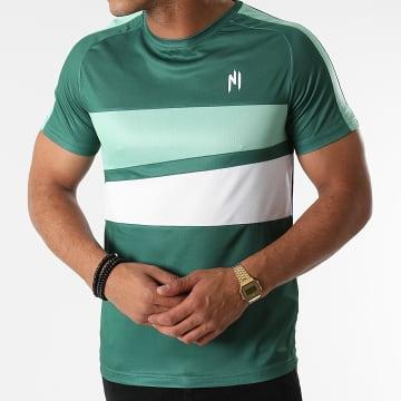 NI by Ninho - Tee Shirt A Bandes Magnum Vert