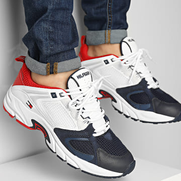 Tommy Hilfiger - Baskets Archive Mix Runner 0727 Red White Blue