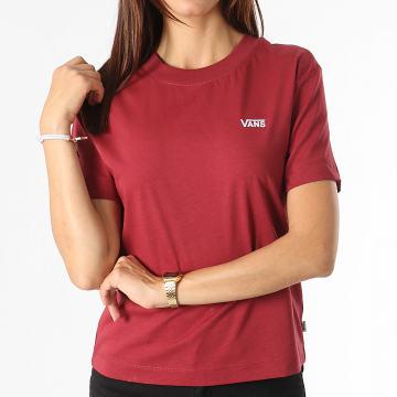 Vans - Tee Shirt Femme Junior V Boxy A4MFL Bordeaux