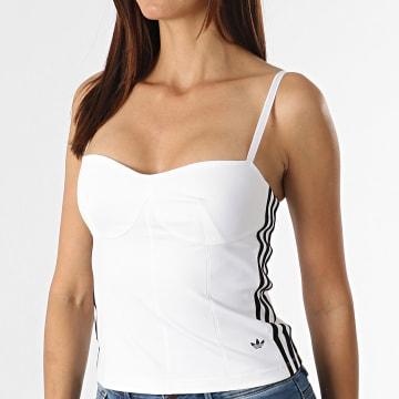 Adidas Originals - Débardeur Femme A Bandes Corset H20241 Blanc