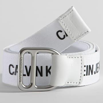 Calvin Klein - Ceinture Slider Webbing 8292 Blanc