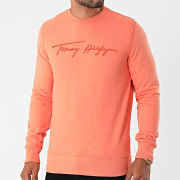 Tommy Hilfiger - Sweat Crewneck Signature 8710 Saumon