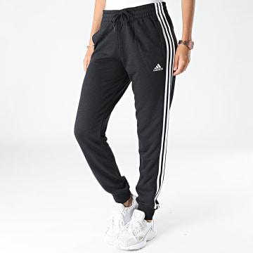 Adidas Performance - Pantalon Jogging Femme A Bandes 3 Stripes French Terry GM8733 Noir
