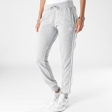 Adidas Performance - Pantalon Jogging Femme A Bandes 3 Stripes French Terry GM8735 Gris Chiné
