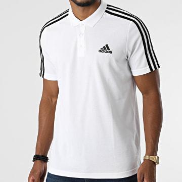Adidas Performance - Polo Manches Courtes A Bandes 3 Stripes GK9138 Ecru