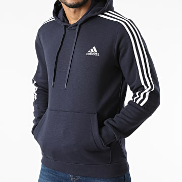 Adidas Performance - Sweat Capuche A Bandes Cut 3 Stripes GK9584 Bleu Marine